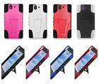 For Sony Xperia Z L36H C6603 Trifecta Hybrid Hard Cover Silicone Case