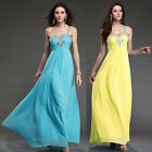 Top Sexy Women Back Chiffon Formal Gown Long Evening Dress Bridesmaid Prom Party