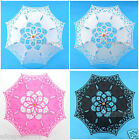 "21"" Kid's Children Lace Cotton Sun Parasol Umbrella Bridal Wedding Party Decor"