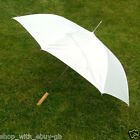 6 LARGE BRIDAL WEDDING UMBRELLAS - BRIDES BRIDESMAIDS & GUESTS - WHITE & BLACK