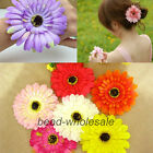 1pc New Fashion Gerbera African Daisy Bridal Wrist Flower Hair Band Clip Corsage