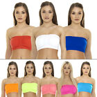 New Ladies Womens Sports Bra Vest Bandeau BoobTube Crop TOP Bras Size S M L XL