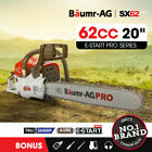 NEW Baumr-AG 62cc Petrol Commercial Chainsaw 20
