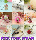 ONE GP Crystal Bag Phone Strap Charm,Girl,HTC,Nokia,Samsung,Party Favor Supply