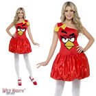 FANCY DRESS COSTUME # LADIES ANGRY BIRDS ANIMAL GAME RED DRESS SIZE 8-18