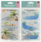 U CHOOSE  Jolee's WAVES VELLUM WAVES AND SAND 3D Stickers