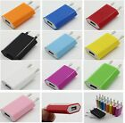 Black/White Colors EU Plug USB AC Wall Charger for iPod iPhone 4S 5 5G HTC Nokia