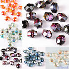 10/50 Faceted Glass Crystal Spacers Hexagon Beads Jewelry Making DIY 12x14mm