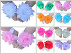 Baby Barefoot Sandals Girl Chiffon Shabby Flower Shoes Footwear Photo Prop