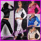 NEW hot TRACKSUIT FOR LADIES EXERCISE WEAR TRACK JACKET PANTS hooded JOGGING SET
