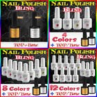 NEW Nail Art Varnish Polish Glitter Sparkly UV LED Soak-Off +Base Coat +Top Coat