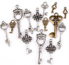 100g(about 90pcs) Lots Mixed Key Charm Pendants Fit Jewelry Making