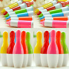 6x Cute Mixed Color Bowling Ball Point Pen Telescopic Capsule Ballpen Stationery