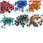 200 x 4mm  Round Glass Crackle Beads Jewellery Bead  * PICK COLOURS *