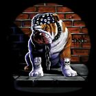 Biker, Chopper, Fantasy, Gothic T-Shirt, Bulldogge, Tuff Dog Sidewalk, S - 6XL