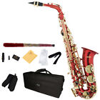 Mendini Eb Alto Saxophone Sax ~Gold Silver Blue Green Purple Red +Care Kit фото