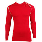 Mens Nike Pro Vent Red Dri Dry Fit Compression Baselayer Top Running Tee T-Shirt