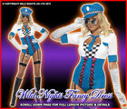 *** SALE *** Fancy Dress Costume # Ladies Fever Pop Sexy Police Woman Size 8-14