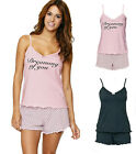SORBET 100% Cotton Cami & Short Pyjama Set PJs. 2 Colours. PLUS Size 18-32