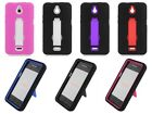 For Huawei Ascend Plus H881C Prepaid Phone Cover Kickstand Double Layer Case