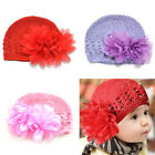 Newborn Baby Girl Cute Toddlers Flower Crochet Beanie Knitted Cap Hat Knit 0-12M