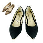 New Hot Women's Spring Broadcloth Metal Pointed Toe Flat Shoes Single Shoes DZ88