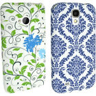 Floral Flower TPU Gel Skin Case Cover Holder for Smartphones + Screen Protector