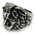 Stylish Gothic Lion King Cool Punk Men's 316L Stainless Steel Finger Ring