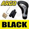 More images of BLACK CHROME LEATHER GEAR SHIFT KNOB STICK MANUAL SHIFTER SELECTOR LEVER CHANGE