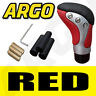 More images of RED CHROME LEATHER GEAR SHIFT KNOB STICK MANUAL SHIFTER SELECTOR LEVER CHANGE