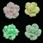5 x Large Polymer Clay Handmade Flower Beads 25mm Petals Flower * SELECT COLOUR