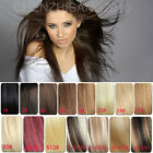 "Hot Sales New Fashion Clips in Real Human Hair Extension 22""-30"" Full Head 120g"