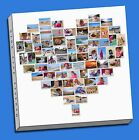 stunning heart  collage canvas print picture custom personal personalised