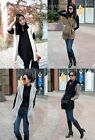 Womens Fashion Hoodie Faux Fur Hooded Vest Long Jacket Cardigan Coats With Belt