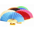 10 Plain Strong Fabric Designer Japanese Chinese Hand Fan for Party Wedding Gift