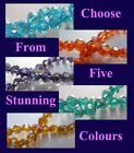 Faceted Electroplated Pearlised Crystal Beads - 8mm - Minimum 70 Beads (BD001)