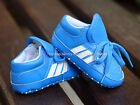 Toddler Baby Boy Blue Sneakers Soft Sole Crib Shoes Size Newborn to 18 Months