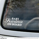 Choose your Name Personalised BABY ON BOARD Vinyl Car Decal Sticker