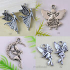 20pcs Tibetan Silver Angel Pendants Jewelry Making DIY Findings Charms HOT SALE