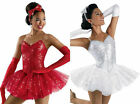 PARTY GIRL Ballet Tutu Dance Costume Includes Hair Bow & Gloves Adult L & AXL