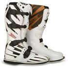 NEW FLY RACING MAVERIK F4 MOTOCROSS MX DIRT BIKE OFFROAD BOOTS WHITE ALL SIZES