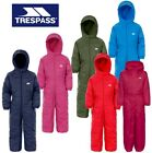 TRESPASS DRIPDROP ALL IN ONE PADDED WATERPROOF RAINSUIT SNOW SUIT KIDS DRIP DROP