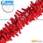 """Red Coral Gemstone Branch Stick Beads For Jewelry Making Free Shipping 15"""""""