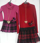 Dress in Pink & Black or Red & Black Great 4 AutumnWinter 2-10yrs Warm