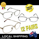 12x G&G Unisex Budget Reading Glasses Bulk Wholesale Gold Black Silver 1.0 - 4.0