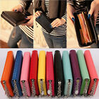 Stylish Women Zip Round Leather Colorful Wallet Case Lady Long Handbag Purse Bag