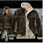 RE4 RESIDENT EVIL 4 LEON KENNEDY'S PU Faux LEATHER FUR JACKET ALL SIZE AVAILABLE