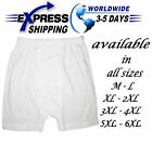 100% Egyptian Cotton Half Short Mens Men Underwear Boxer Briefs White Clothing