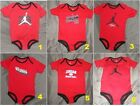 New! Air Jordan Infant Baby Boy Red One Piece Bodysuit 9-12 Month