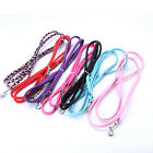 7 Colors Small Dog Puppy Cat Pet Collar Leash Faux Leather Long Leash Lead Rope
